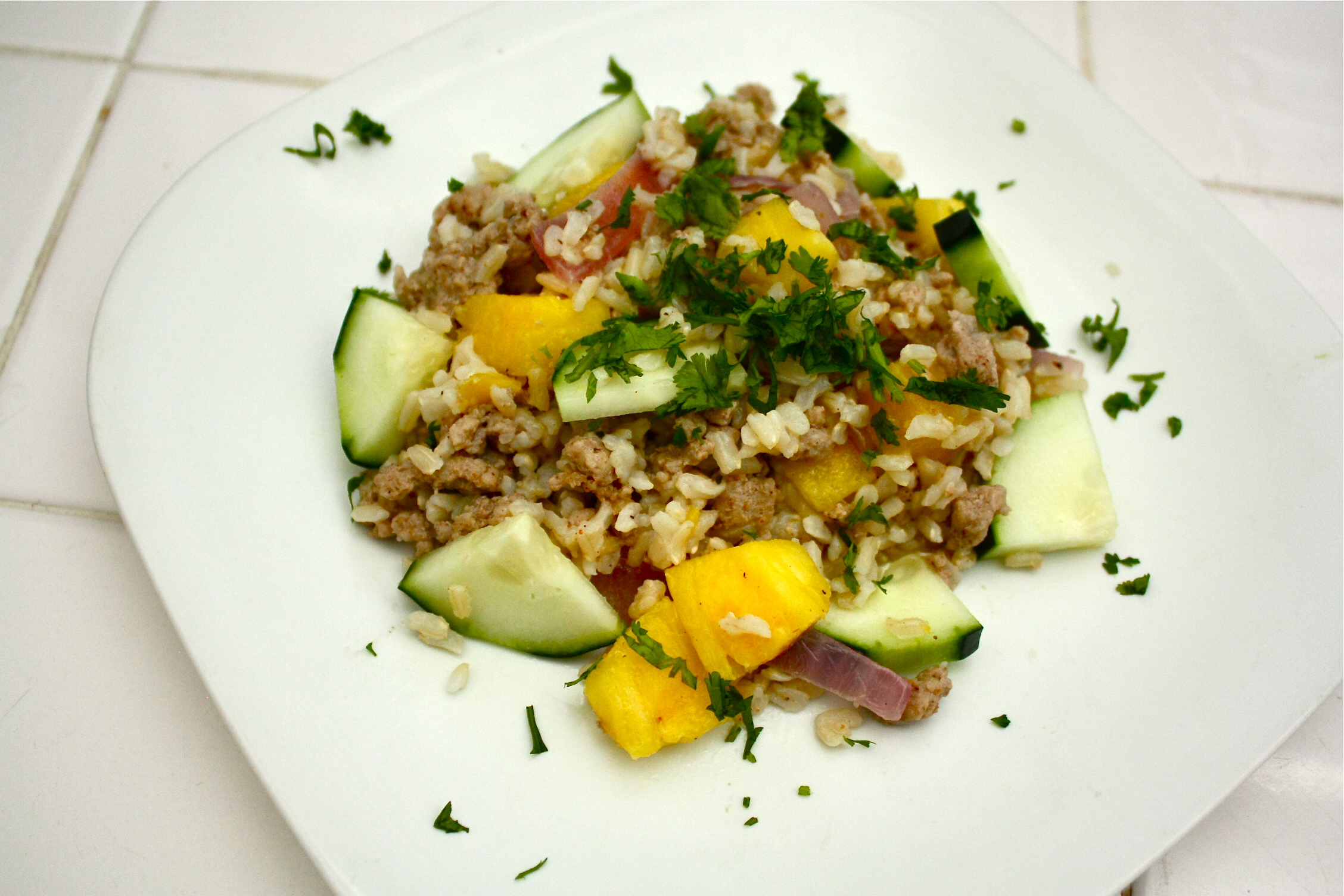 Pineapple turkey brown rice bowl ditch the recipe one of my favorite things to do is create recipes using a bunch of random ingredients i have in my kitchen this is especially fun when trying to use up forumfinder Image collections