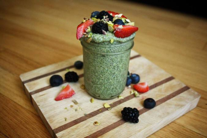 Matcha green tea pudding2